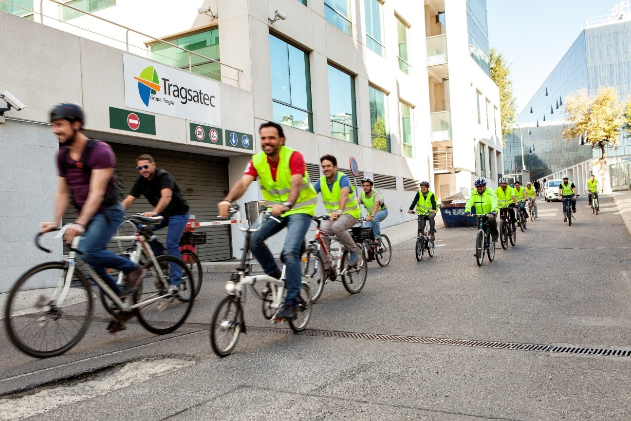 Fomento de la bicicleta en Tragsatec, empresa pública Cycle Friendly Employer Oro