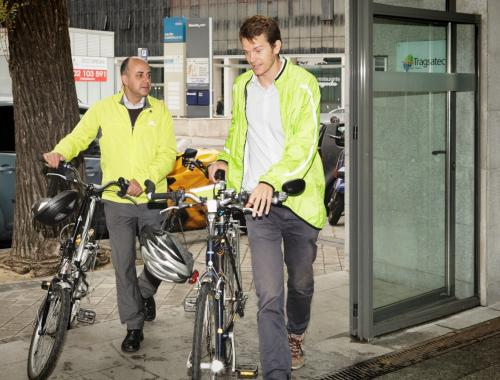 En bici al trabajo en Tragsatec, empresa pública Cycle Friendly Employer